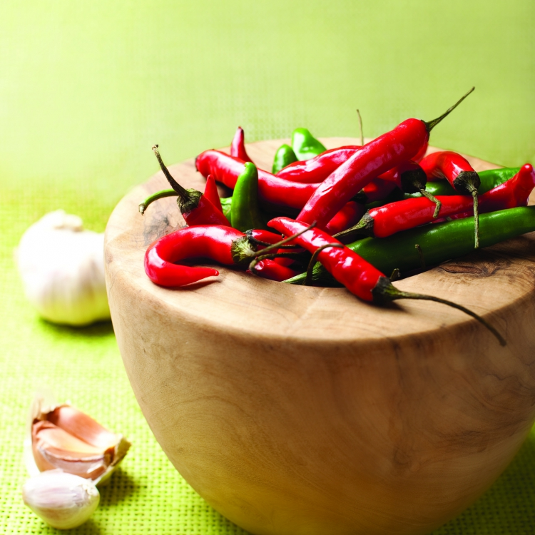 Chillies in bowl:  flavour que for packaging Pakco