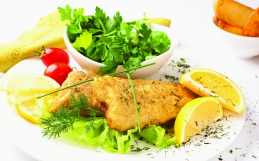 Hake And Salad